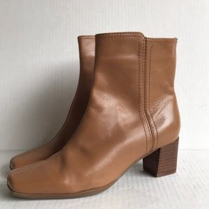 NINE WEST SOLESET LEATHER ANKLE BOOTS 5.5W